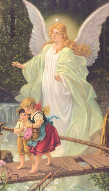 *SPANISH* Prayer to Guardian Angel Holy Card